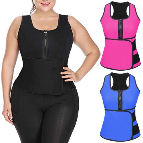 Womens Body Shaper Sauna Waist Fitness Vest Slimming Adjustable Sweat Belt US Clothing, Shoes & Accessories
