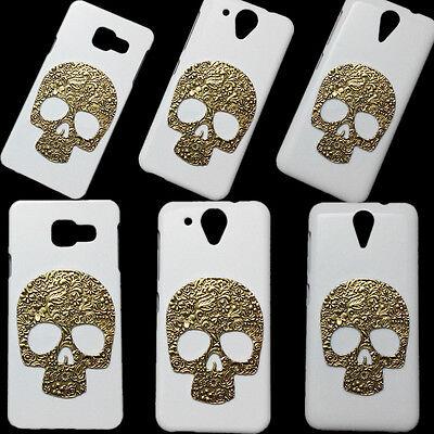 Hot Sale Retro Metal Skeleton Skull Hard Back Plastic Skin Case Cover for Phones