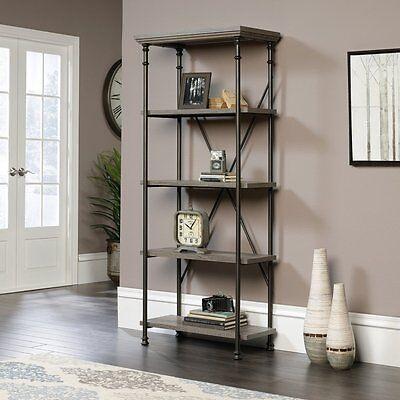 Sauder Canal Street 5-Shelf Bookcase In Northern Oak Finish 419228 New