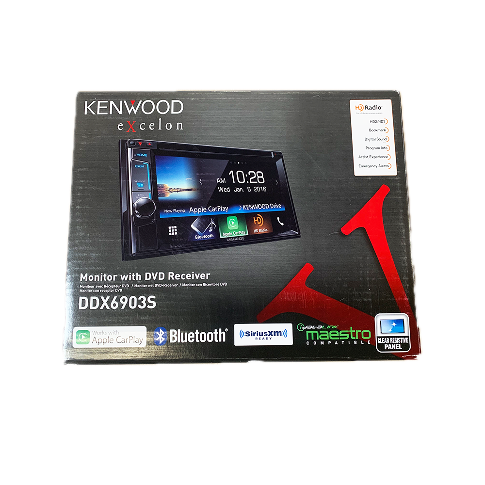 Kenwood DDX6903S 6.2 eXcelon Double-DIN with Apple CarPlay
