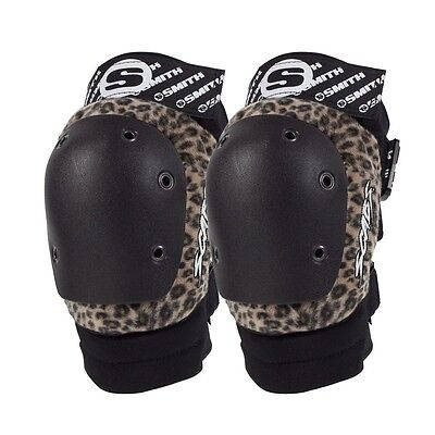 Smith Safety Gear Scabs ELITE KNEE Skateboard Pads BROWN LEOPARD S/M