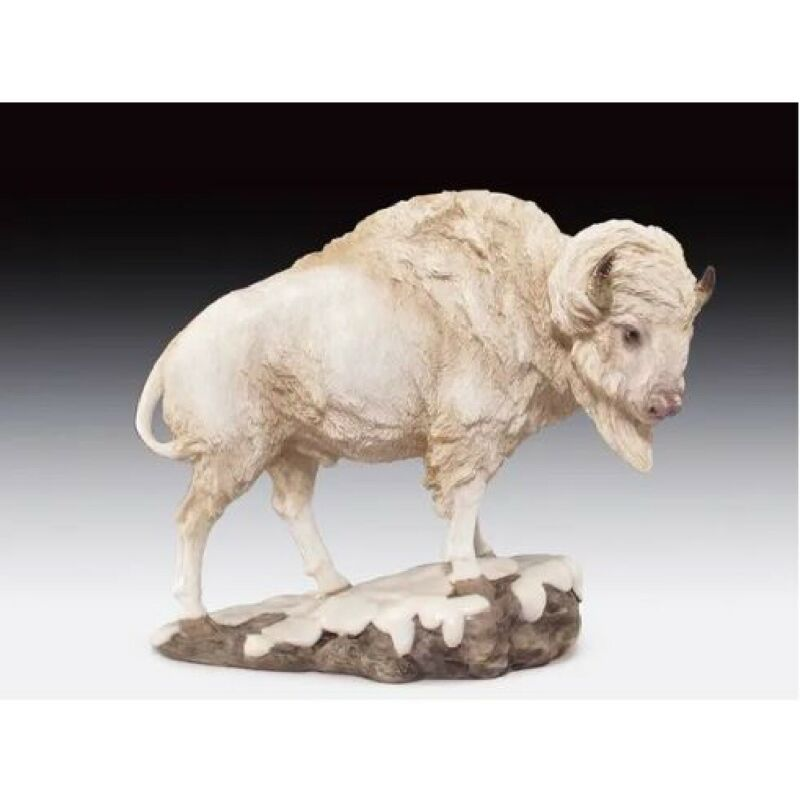 Snow Buffalo Figurine New