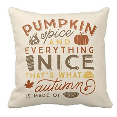 Happy Halloween Linen Cotton Cushion Cover Throw Pillow Case Home Sofa Decor New