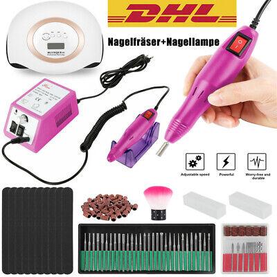 Profesional Eléctrico Cortaúñas Pedicura Manicura Set + LED UV Uñas Lámpara 168W