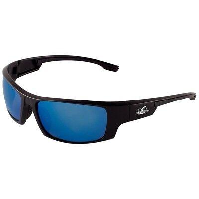 Bullhead Dorado Safety Glasses With Blue Mirror Lens Black Frame