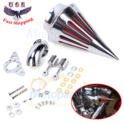 Spike Air Filter Intake Cleaner Air filter Kit For Harley Dyna Road King 1997-07