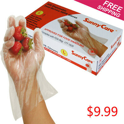 Polyethylene Food Box - 500pcs Polyethylene Food Service Disposable Gloves (Vinyl Nitrile Latex Free) -L
