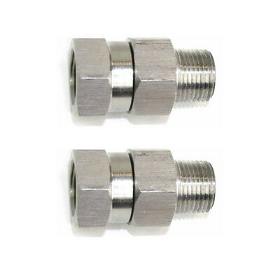 14 Mpt X 14 Fpt Stainless Steel Swivel Fitting - 4000 Psi - Pw7165-2pk