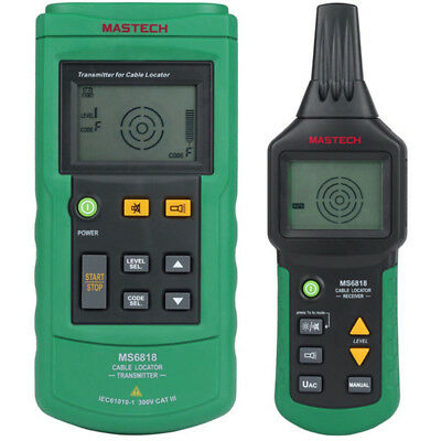 Ms6818 Prtable Wire Cable Tracker Metal Pipe Locator Detector Tester Line Tracke