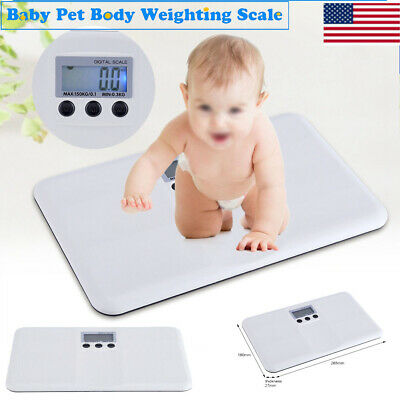 Digital Electronic Baby Pet Scale For Infant Animal Weighting Scale 150Kg LCD US