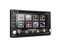 Double Din Car Radio 6.2 inch Screen Sat Nav CD AUX Bluetooth Stereo GPS DVD USB SD 2-DIN Player