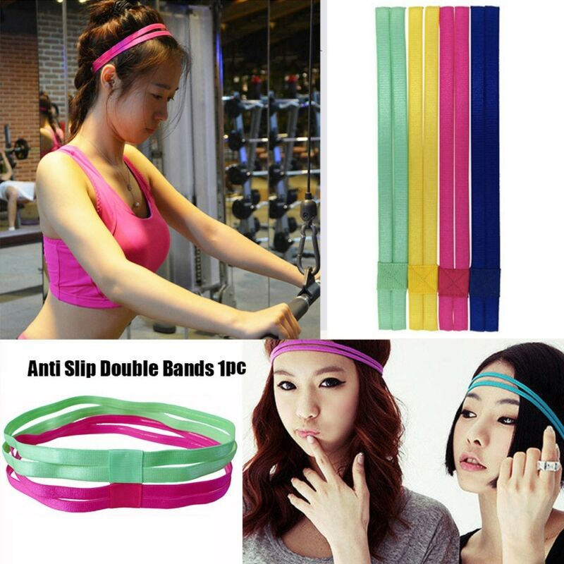 Men Elastic Double Band Football Hairband Running Hair Rope Sport