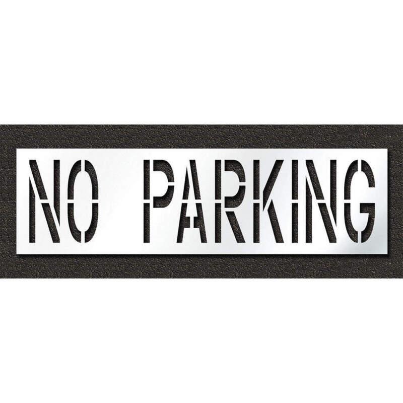Pavement Stencil,No Parking,24 in STL-116-72432