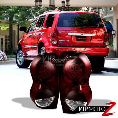 2004-2009 Dodge Durango SXT Red Smoke Rear Tail Lights Set Left Right Brake - Dodge Durango Tail Lamp