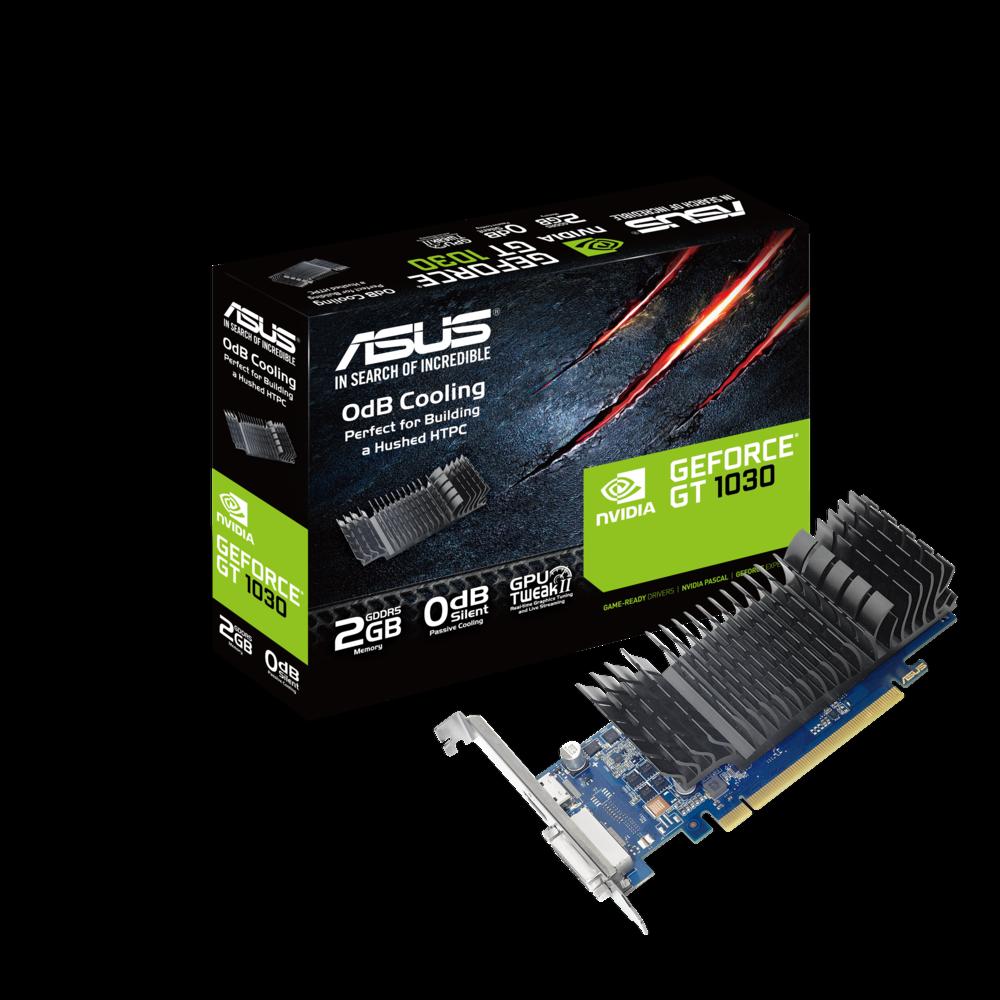 ASUS GeForce GT1030-SL-2G-BRK Low-Profile Grafikkarte (PCIe 3.0, 2GB GDDR5, DVI)