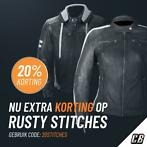 20% extra korting op alle Rusty Stitches motorkleding!