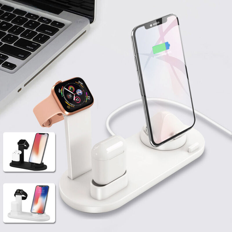 3in1 Charging Station Dock Charger Stand For Apple Watch Air