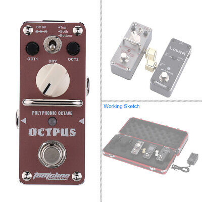AROMA AOS-3 Octpus Polyphonic Octave Guitar Mini Single Effect Pedal True Bypass