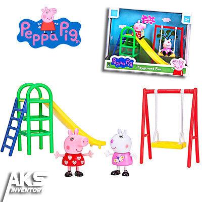 Peppa Pig Playground Fun Playtime Set Young Girls Gift New