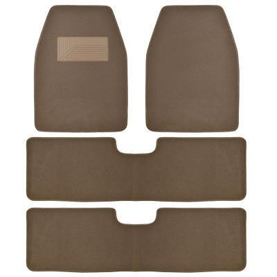 Bdkusa 3 Row Best Quality Carpet Floor Mats For Suv Van   4 Pieces   Dark Beige