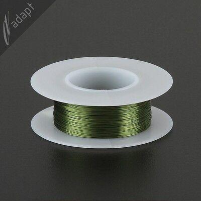 Magnet Wire, Enameled Copper, Green, 30 AWG (gauge), 155C, ~1/16 lb, 200ft, HPN