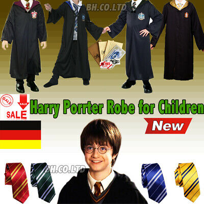 Kinder Harry Potter Kostüm Costume Umhang Cape Robe - Halloween Harry Potter Kostüme