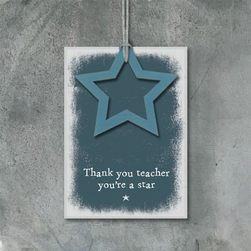 Thank You Teacher Gift Tag   East Of India School Leaving Label