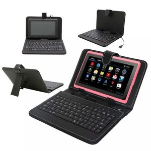 Black-Leather-Cover-Case-with-Micro-USB-Keyboard-for-7-Tablet-PC-Epad-PDA-MID
