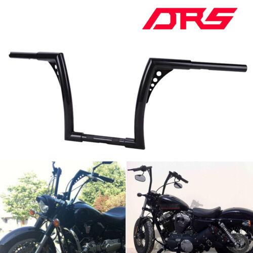Black Chrome 12/'/' Rise 1.25 APE Hanger Drag Handlebar For Dyna Softail Sportster