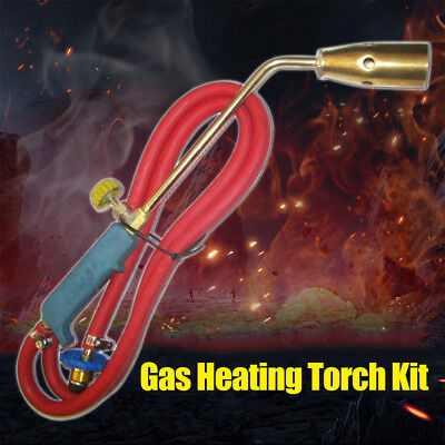 Propane Gas Flame Torch Welding Burning Weed Heating Tool Anti Slip Handle Fs