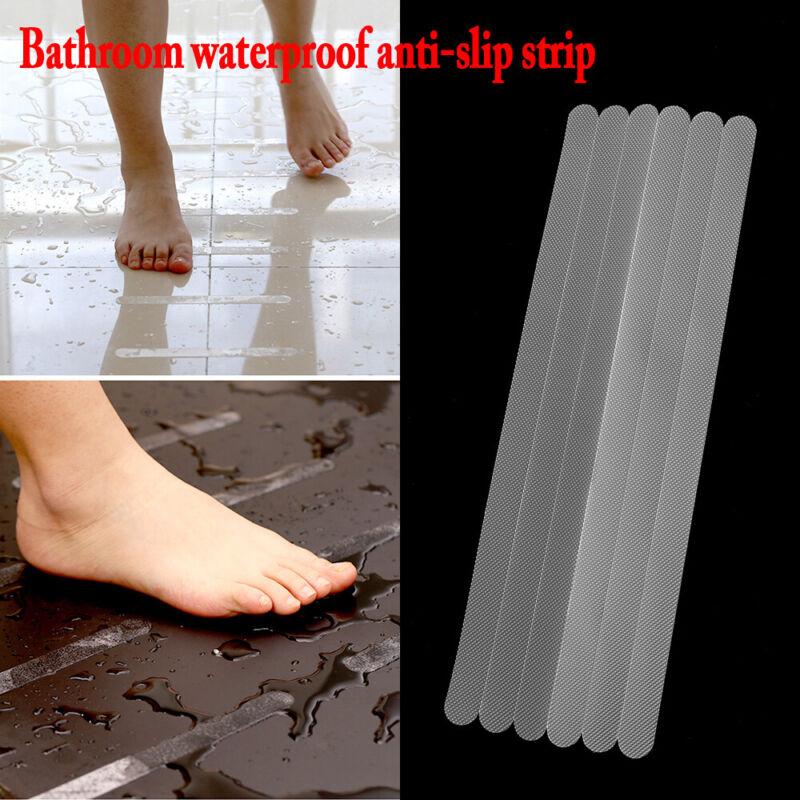Anti-Slip Strips for Shower Bath Floor Safety Nonslip Transparent Grey Stickers