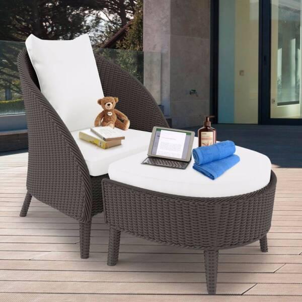 Redoda PE Wicker Outdoor Chair Stool Set   Ash | Lounging U0026 Relaxing  Furniture | Gumtree Australia Blacktown Area   Seven Hills | 1160414553 Part 97
