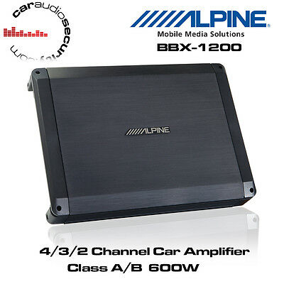Alpine BBX-1200 - 4/3/2 Channel Class A/B Car Amplifier 600W Speaker Bass...