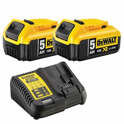 DeWalt DCB184/DCB115 2x5.0Ah XR 18v Li-Ion Battery Pack and Charger