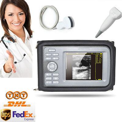 Human Handheld Ultrasound Scanner Machine Convex Linearvascular 2 Probes Fda