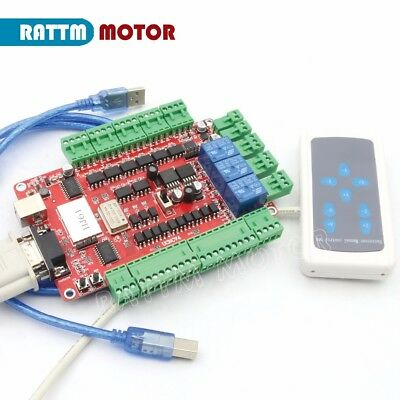 4 Axis Usbcnc Stepper Motor Controller Interface Breakout Board Manual Control