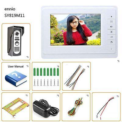 SY819M11 7 Inch HD Doorbell Camera Video Intercom Door Phone System with Monitor