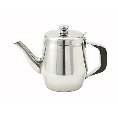 Winco Jb2932 32-ounce Gooseneck Teapot With Handle Stainless Steel