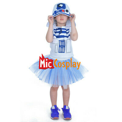 R2D2 Space Wars Child Halloween Costume Girl Dress  (R2d2 Baby Halloween Costume)