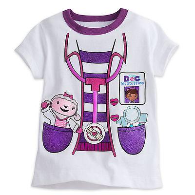 Doc Mcstuffins Halloween Costume Infant (Disney Store Doc McStuffins Costume Tee Halloween organic purple sizes 2 3 4)