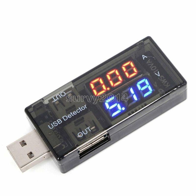 5PCS USB Current Voltage Tester Voltage Ammeter USB Detector Double Row Shows