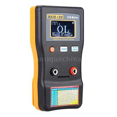 Mesr-100 Lcd Professional Esr Capacitance Ohm Meter 100khz In Circuit Tester