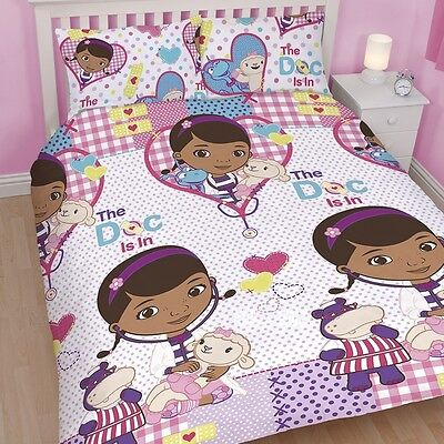 s Patch DOUBLE Rotary Duvet Cover Bed Set Dottie Stuffy (Doc Mcstuffins Bettwäsche)
