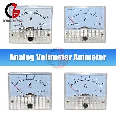 85c1 Analog Panel Meter Voltmeter Ammeter Dc Volt Gauge 0-30v 0-50v 0-5a 0-10a