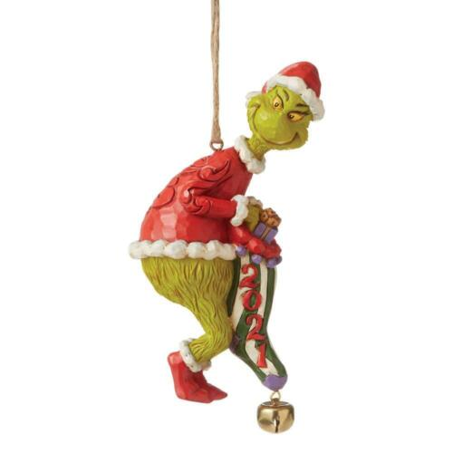 Jim Shore GRINCH HOLDING STOCKING DATED 2021 ORNAMENT 6008894 BRAND NEW