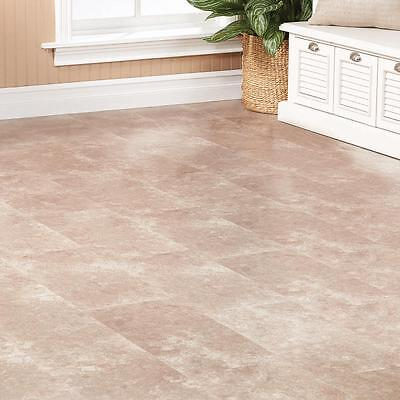 "NEW Travertine Tile Gray 8mm 11-13/21""W x 47-5/8""L LAMINATE FLOORING 26.44 Sq Ft"