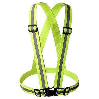 Adjustable Safety Security High Visibility Reflective Vest Gear Stripe Jacket LH