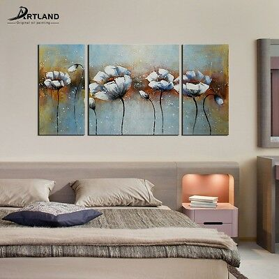 Modern Flower Wall Art Hand Painted Canvas Oil Painting Ready to Hang —ARTLAND