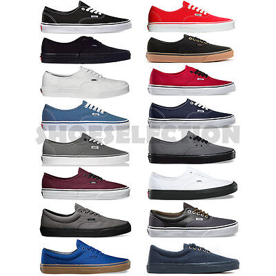 Vans New Authentic Era Classic Sneakers Men Women Canvas Shoes All Sizes