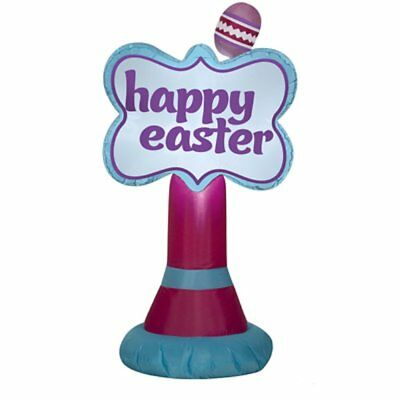 Easter Inflatables (3.5' Inflatable Happy Easter Sign Airblown Holiday Decoration By)